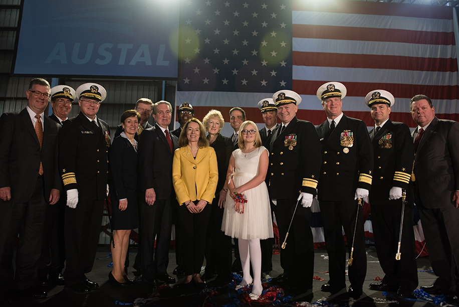 USNS Carson City (EPF-7) christening ceremony participants