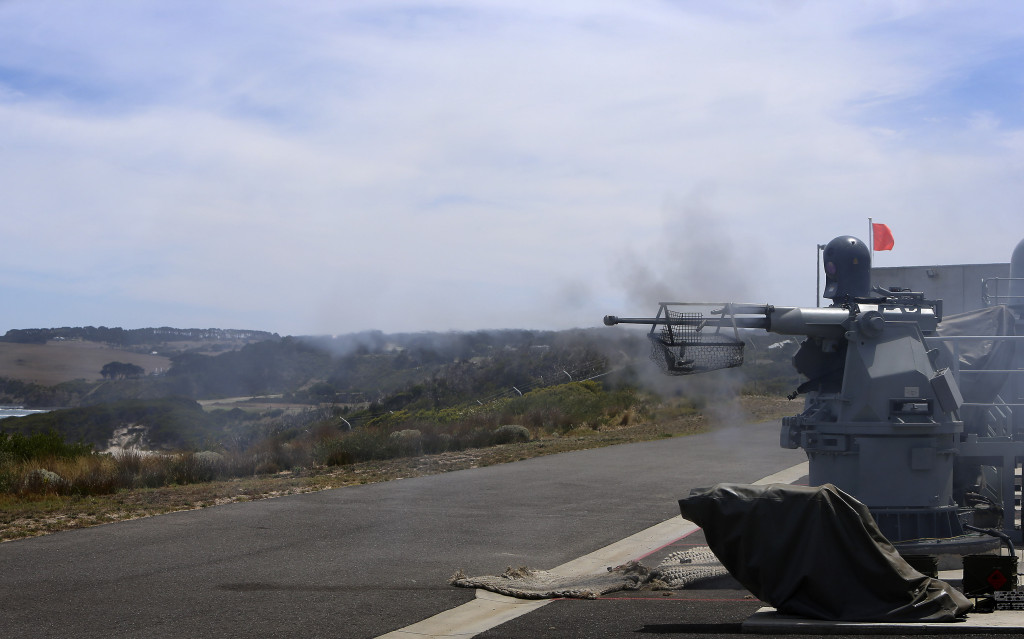 Mk-25 Mod 2 25-mm Typhoon Certification firing at West Head Gunnery Range, Flinders, Victoria