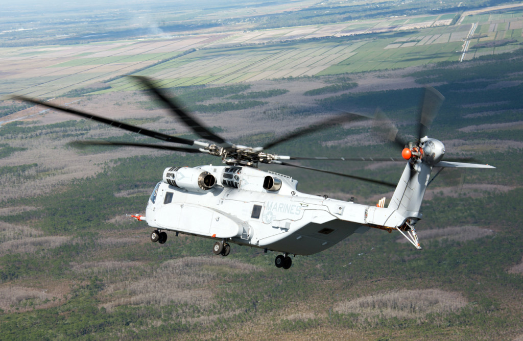 The first CH-53K aircraft achieves 120 knots/138 mph/222 km/h at Sikorsky's Development Flight Test Center in West Palm Beach, Florida