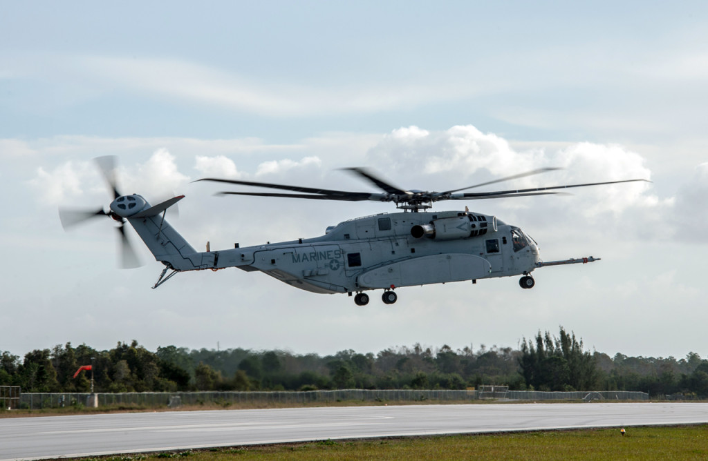 The second CH-53K aircraft achieves its first flight at Sikorsky's Development Flight Test Center in West Palm Beach, Florida