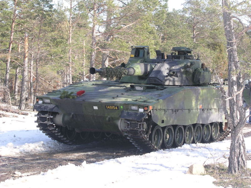 BAE Systems has won a contract to refurbish 262 Combat Vehicles-90 (CV-90) which are currently the mainstay of the Swedish army's armored units (Swedish MoD photo)