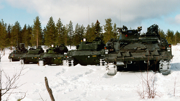 The Swedish Army has a fleet of 509 CV90s