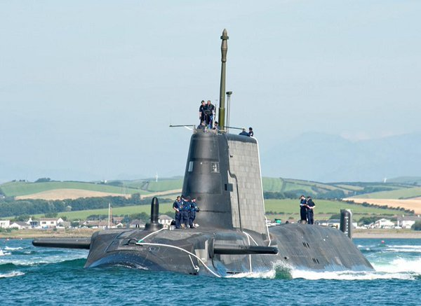 HMS Artful is the third of six Astute Сlass nuclear attack submarines being built for the Royal Navy. Launched in May 2014, it has now been commissioned into the fleet (RN photo)