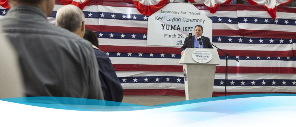 Austal celebrates keel-laying for nation's eighth Expeditionary Fast Transport vessel – USNS Yuma (T-EPF-8)