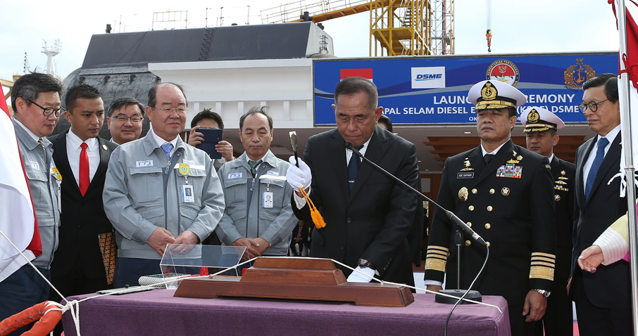 The boat was launched on 24 March at DSME's Okpo shipyard in a ceremony attended by Indonesian defence minister Ryamizard Ryacudu and TNI-AL chief Admiral Ade Supandi