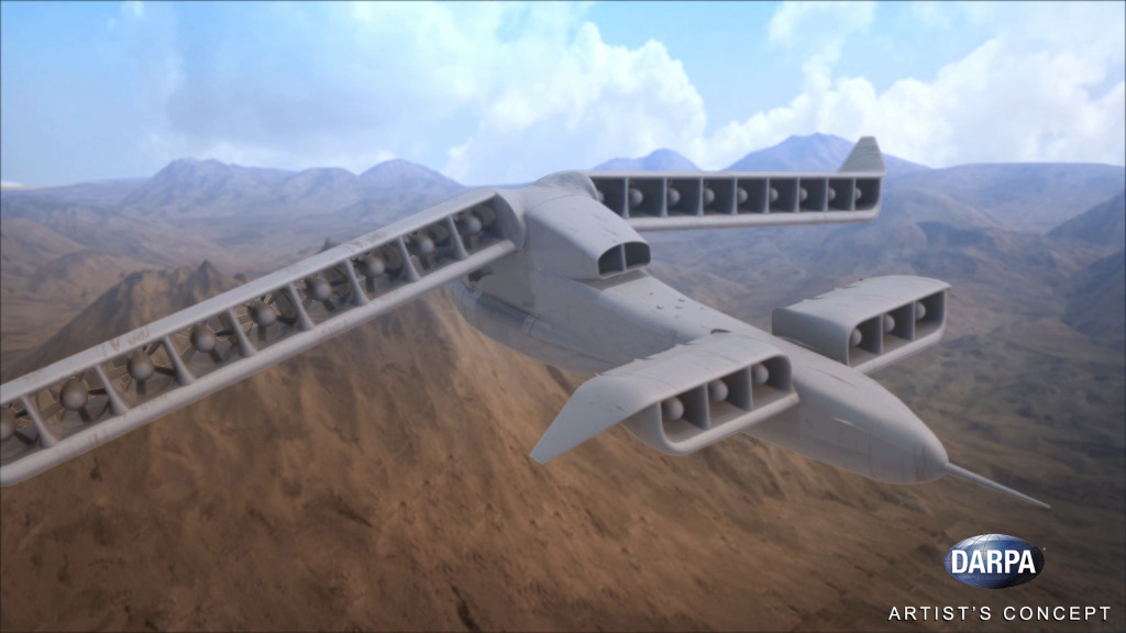 DARPA's Vertical Take-Off and Landing Experimental Plane (VTOL X-Plane) program seeks to provide innovative cross-pollination between fixed-wing and rotary-wing technologies and develop and integrate novel subsystems to enable radical improvements in vertical and cruising flight capabilities