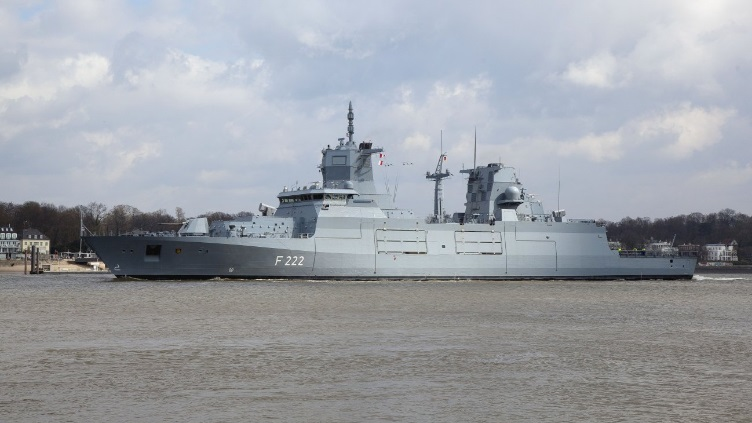 The German Navy's first Type 125 frigate, the future FGS Baden-Württemberg, has begun sea trials (Source: ThyssenKrupp Marine Systems)