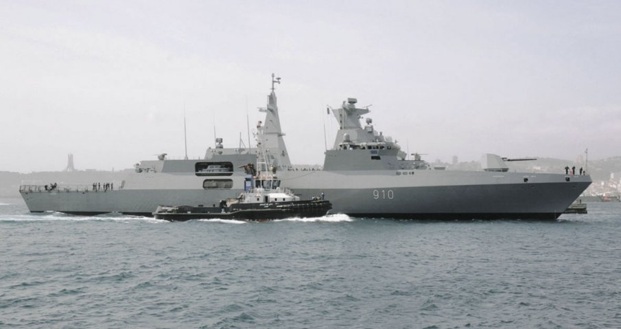 Algeria commissioned Erradii (910), the first of its MEKO A-200 frigates, on 21 April (Algerian Ministry of Defence)