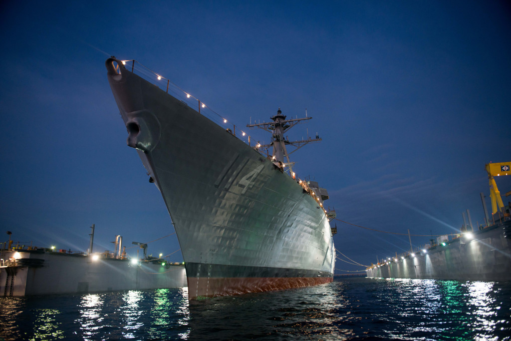 The launch of USS Ralph Johnson (DDG-114). This milestone brings the ship even closer to the big christening event