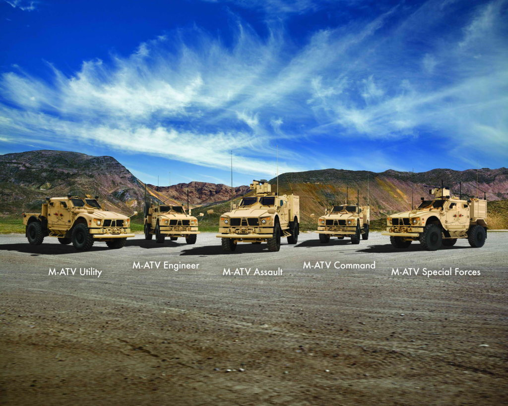 The Oshkosh M-ATV Family of Vehicles defines performance for MRAP class vehicles