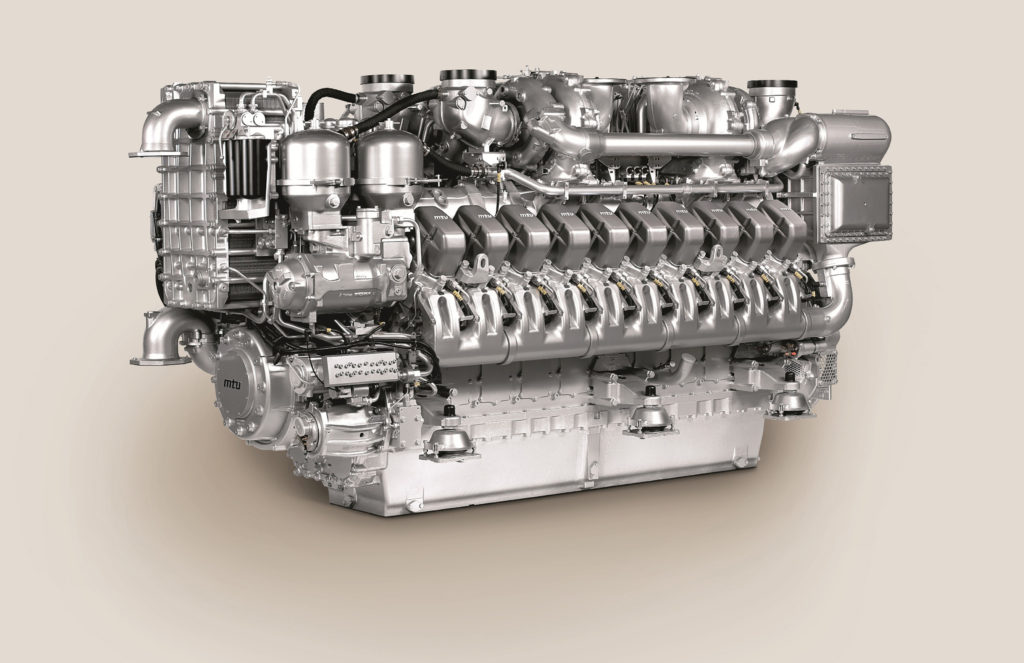 The four MTU diesel gensets on board each Type 26 Global Combat Ship are based on 20V 4000 M53B engines, each delivering 3,015 kW of mechanical power