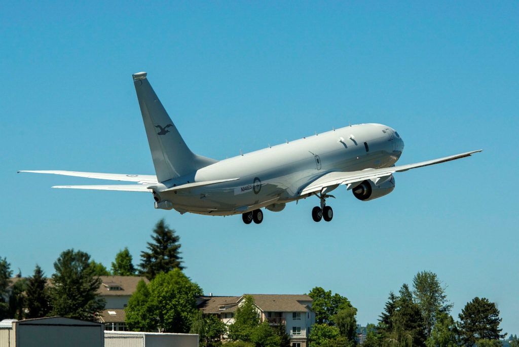 The first P-8A aircraft for the Royal Australian Air Force leaves Renton Field for Boeing Field in nearby Seattle, marking its transfer from Commercial Airplanes to Boeing Defense, Space & Security for final completion