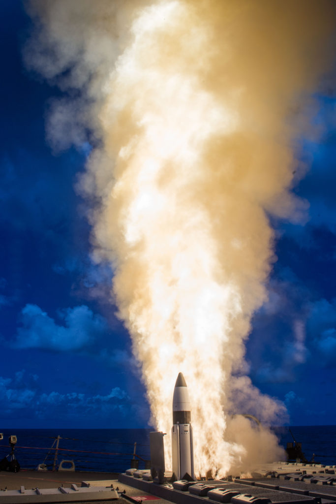 The flight tests, designated Controlled Test Vehicle-01a and CTV-02, demonstrated the successful performance of design modifications to the SM-3 third-stage rocket motor nozzle