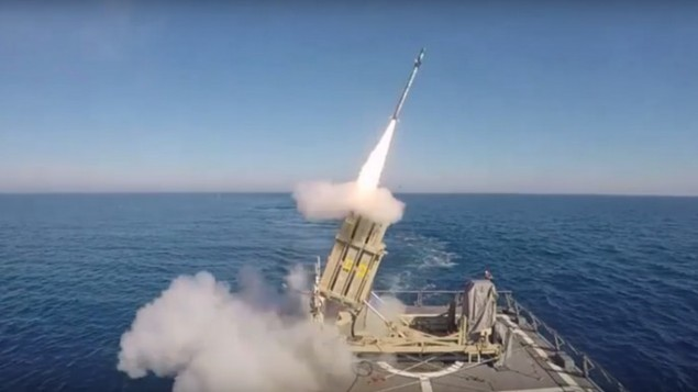 The Tamir Adir Missile Interceptor System was successfully tested by the Israeli Navy