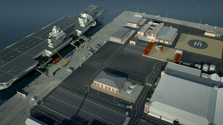 Specialist center to support aircraft carriers takes shape