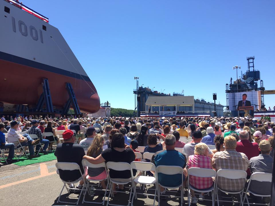 Retired Vice Admiral Joseph Maguire speaks about the heroism of Michael Monsoor, namesake of the second destroyer in the Zumwalt class