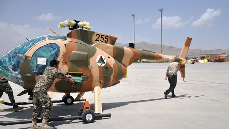The Afghan Air Force received five new MD-530F Cayuse Warrior helicopters on 17 June, according to the USAF (Source: DVIDS)