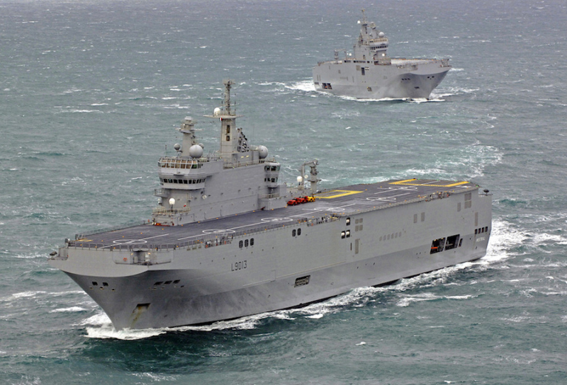 Developed and built by France, and originally sold to Russia, two Mistral-class LHD amphibious warfare ships were finally sold to Egypt; the first one was officially handed over today (DCNS photo)