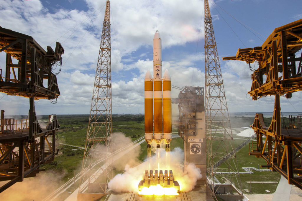 A Delta IV Heavy lifts off carrying NROL-37 for the National Reconnaissance Office
