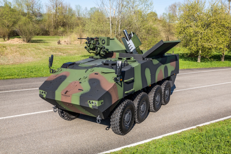 General Dynamics European Land Systems Presents the new Piranha 3+ – the next Generation of Piranha 3 Wheeled Armored Vehicle