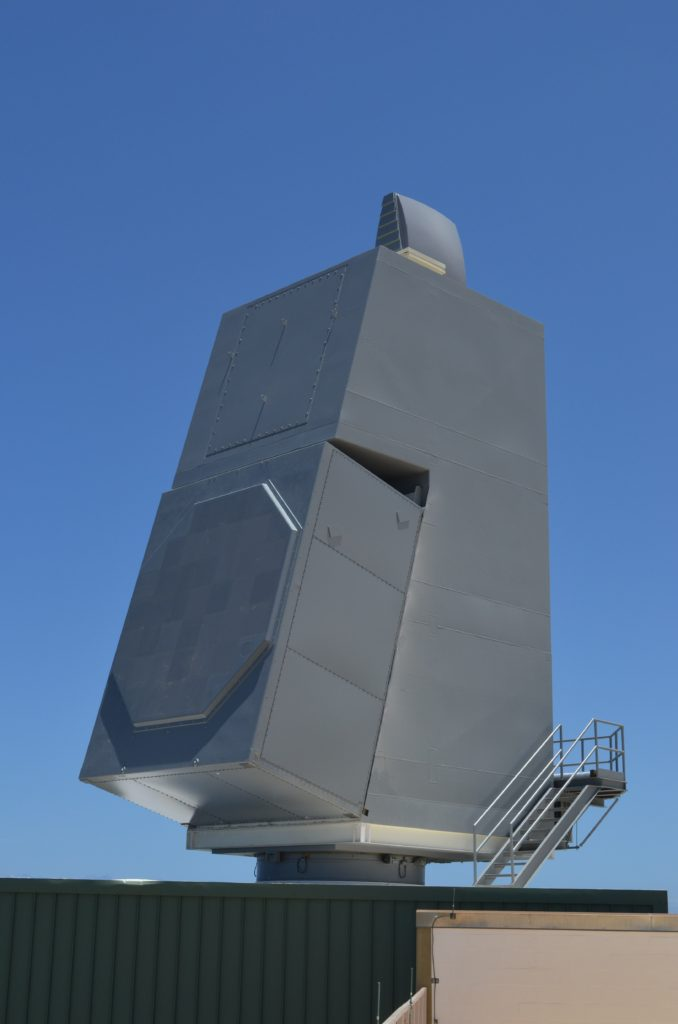AN/SPY-6(V) Air and Missile Defense Radar array at the U.S. Navy's Pacific Missile Range Facility in Hawaii (PRNewsFoto/Raytheon Company)