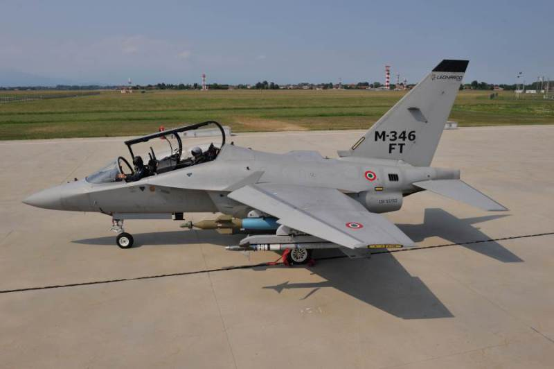 Leonardo-Finmeccanica Unveils the New M-346FT at the Farnborough Air Show