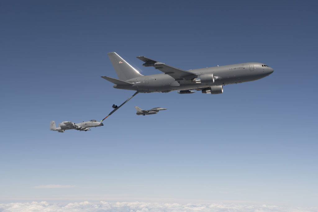 The mission was the last of all flight tests required for the tanker's Milestone C production decision (Boeing photo/John D. Parker)