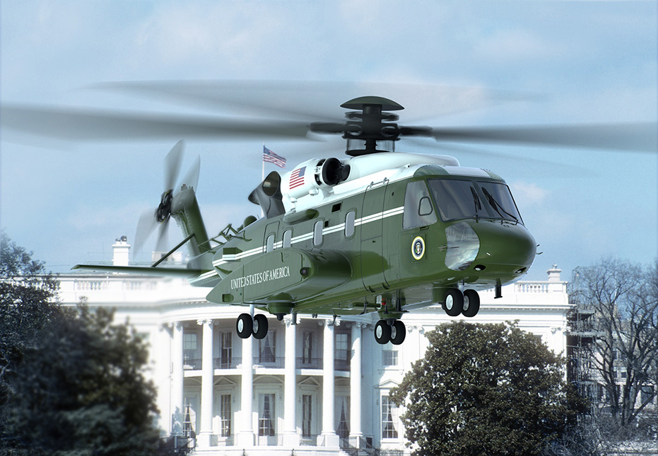 An artist rendering of the VH-92A aircraft