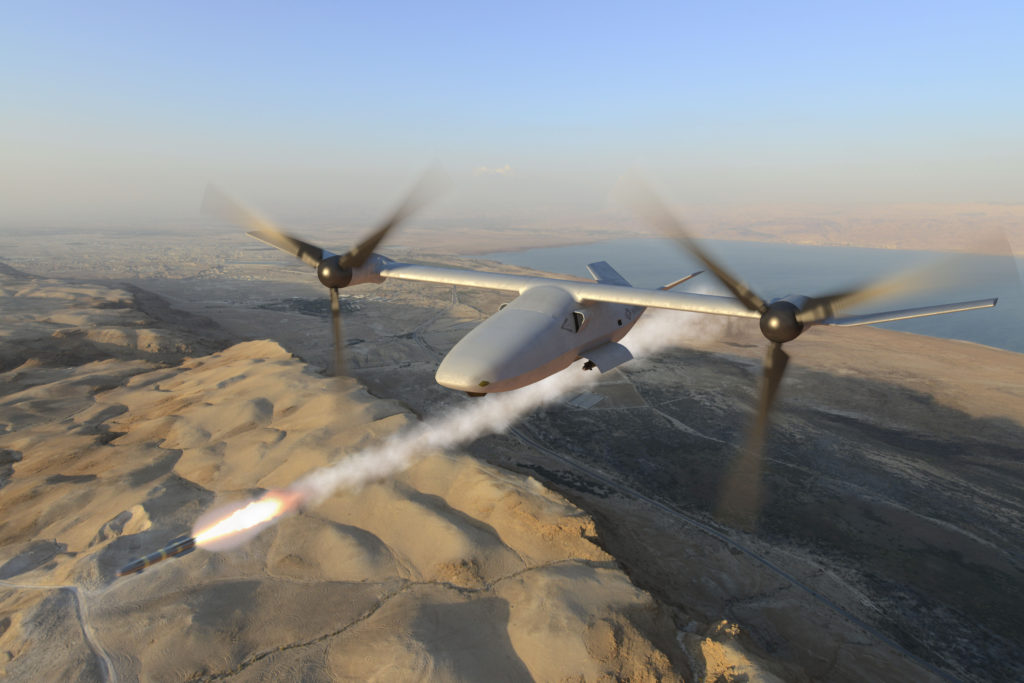 The modular payload system is designed to accommodate a variety of packages. The V-247 Vigilant can be armed with air-to-ground missiles and other precision munitions. An Elector Optical System and Targeting System provide superior target identification and designation