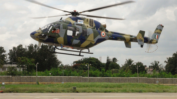 The Light Utility Helicopter, the third rotary-wing aircraft developed by India's HAL, made its first flight on September 6, kicking off flight-testing (HAL photo)