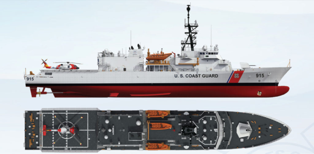 The Coast Guard awarded detail design for the Offshore Patrol Cutter to Eastern Shipbuilding Group, Inc., on September 15, 2016