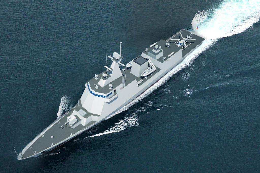 Image of to-be-built 2,600-ton Frigate for the Philippine Navy