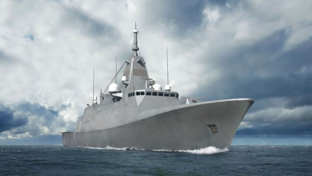 One of the new renders, showing the refined corvette concept (Source: Finnish Defence Forces/Insinööriupseeriliitto)