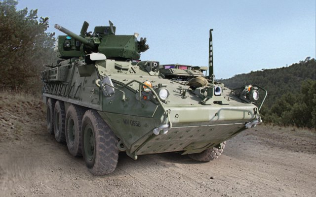 The first prototype Stryker Infantry Carrier Vehicle outfitted with a 30-mm cannon was delivered Thursday to the Army (Photo Credit: courtesy of Program Executive Office Ground Combat Systems)