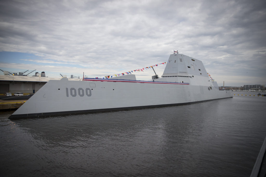 Navy's most advanced warship, USS Zumwalt (DDG-1000) commissions in Baltimore