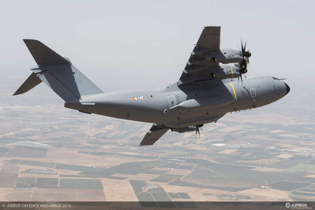Airbus Defence and Space delivers first A400M to Spain