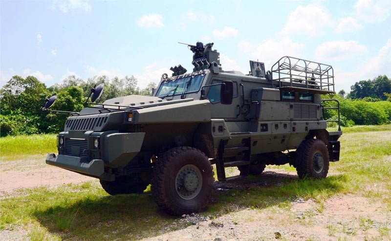 Developed by Singapore's DSTA and ST Kinetics Ltd, the Belrex Protected Combat Support Vehicle will equip Singapore's motorized infantry units (S'Pore MoD photo)