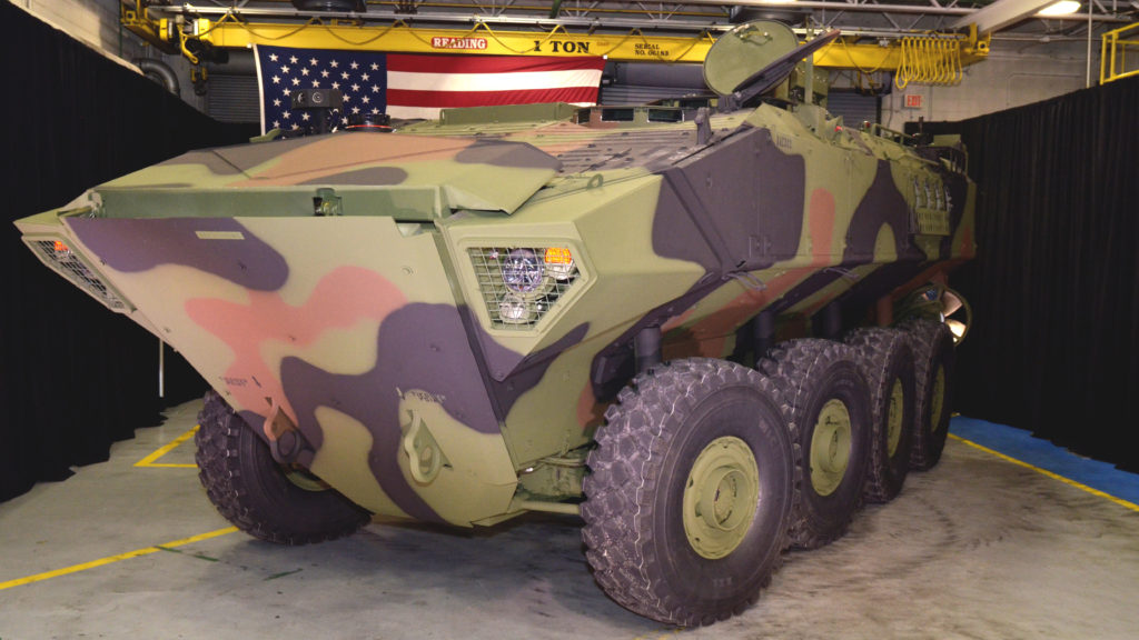 Roll out of first Amphibious Combat Vehicle 1.1 to U.S. Marine Corps