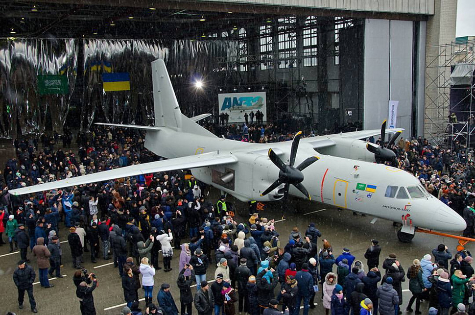 ANTONOV Company completed construction of a new AN-132D aircraft