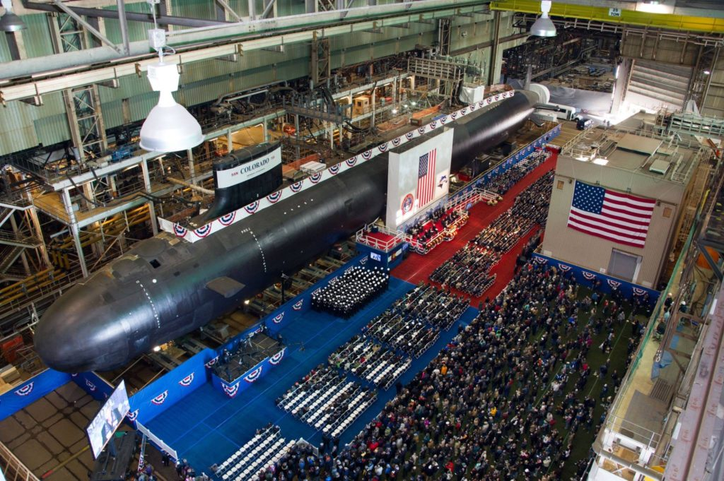 «The submarine Colorado will forever embody magnificence, adventure and freedom», said NNS President Matt Mulherin