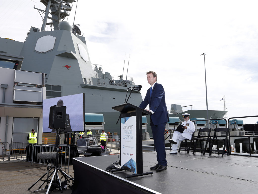 The launch of Brisbane was further demonstration of significant progress on the Air Warfare Destroyer project