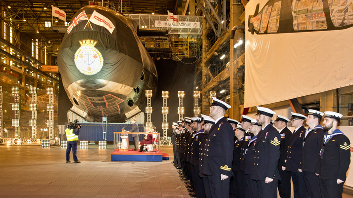 Fourth submarine in Astute class named at Barrow-in-Furness