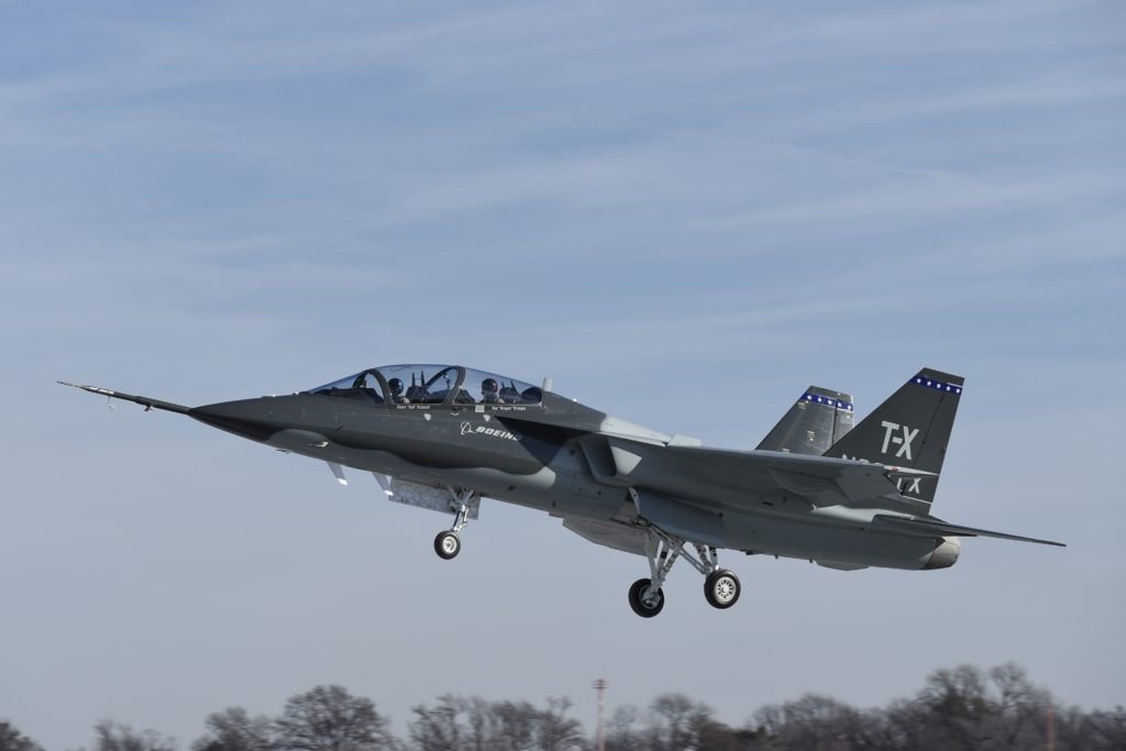 Boeing and partner Saab on 20 December 2016 completed the first flight of their all-new T-X aircraft, which is designed specifically for the U.S. Air Force's training requirements (Boeing photo)