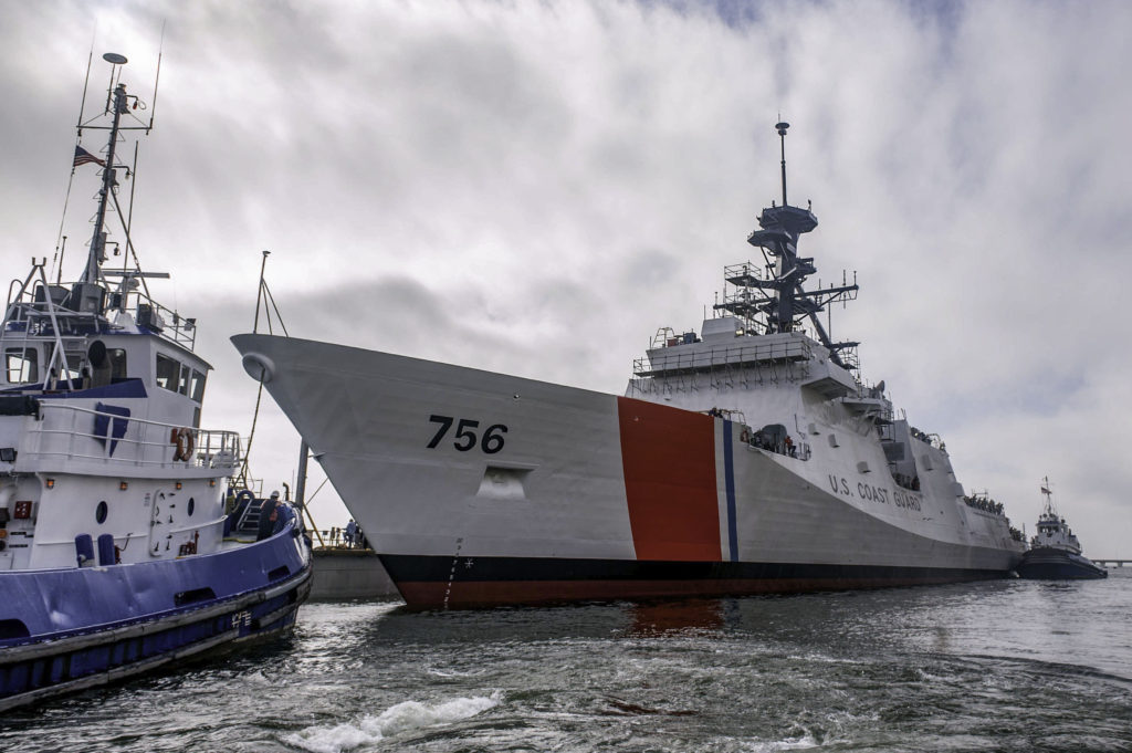 Ingalls Shipbuilding launched the National Security Cutter USCGC Kimball (WMSL-756) on Saturday, December 17. Kimball is the seventh NSC Ingalls has built for the U.S. Coast Guard; christening is scheduled for March 4