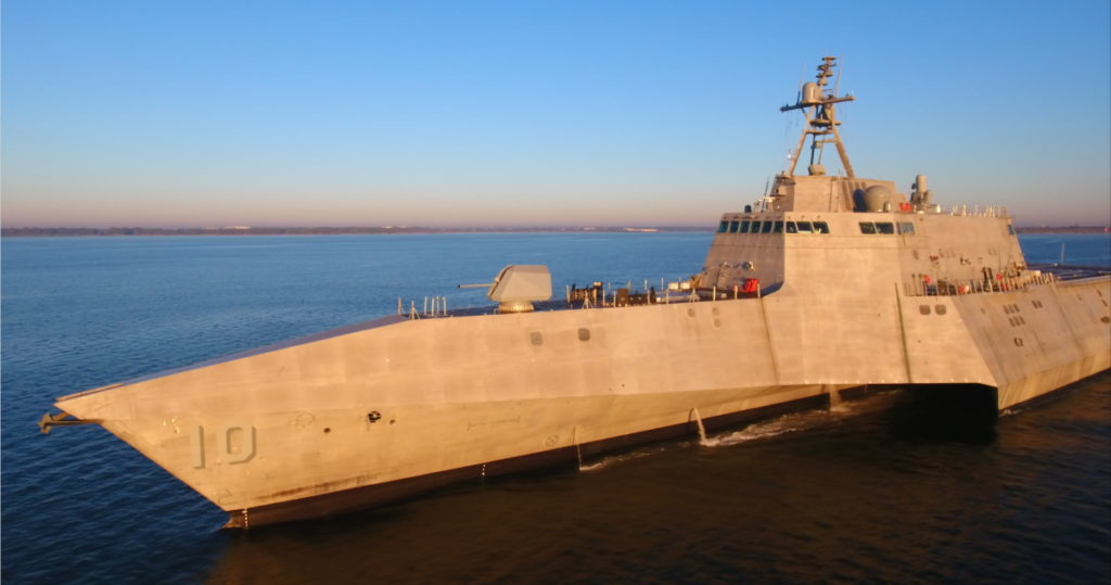 The future USS Gabrielle Giffords (LCS-10) is the fifth Independence-variant Littoral Combat Ship to be delivered by Austal to the U.S. Navy (Photo: Austal)
