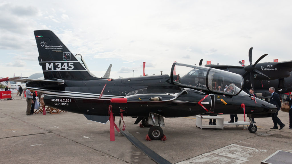 The M-345 is the latest-generation basic jet trainer from Leonardo