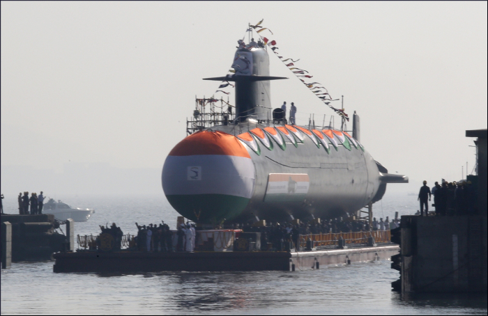 Submarine INS Khanderi (S51) launched