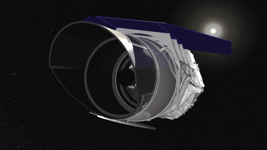WFIRST's powerful optics will detect mysterious energy causing the universe to expand. Lockheed Martin is working on a study for the Wide-Field Optical-Mechanical Assembly, leveraging work on other deep space telescopes (Image credit: NASA/WFIRST)