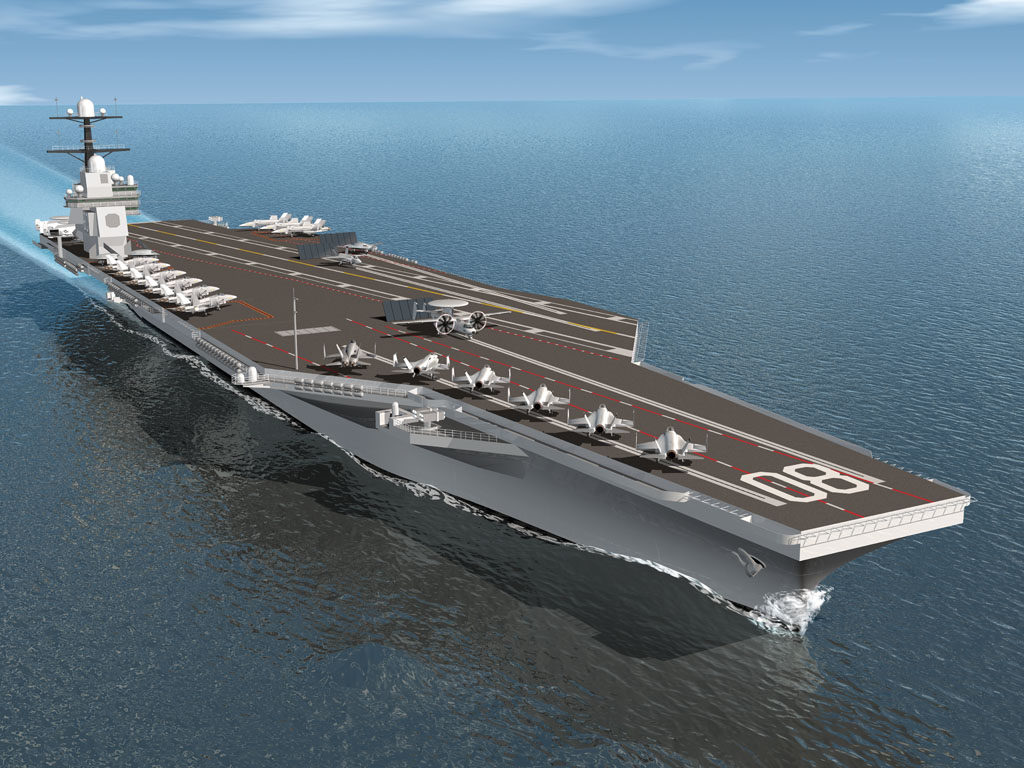Rendering of the third ship in the Gerald R. Ford-class of aircraft carriers, USS Enterprise (CVN-80)