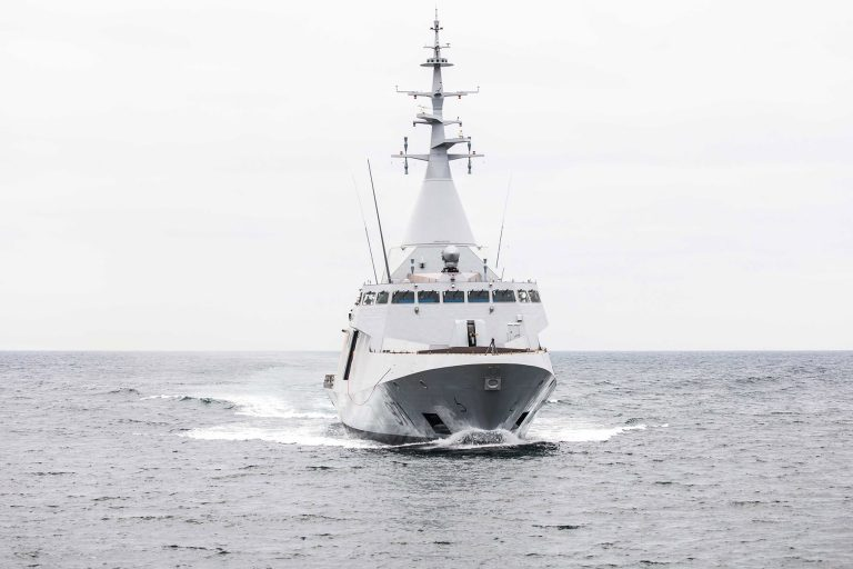 The first sea trials of the first Gowind 2500 corvette designed and built in Lorient by DCNS underline the quality of the conception and production of this new range of vessels